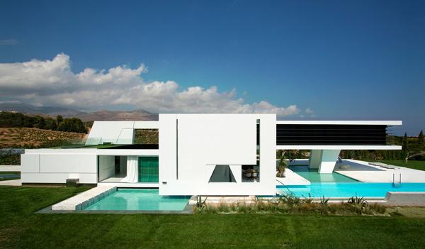 خانه با حس شناور بر روی آب